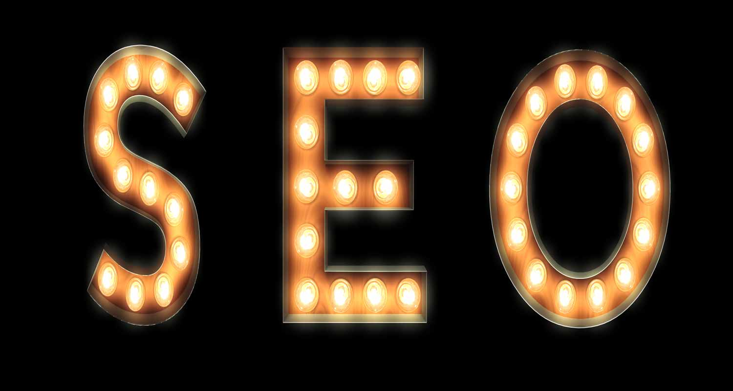 SEO in light up letters