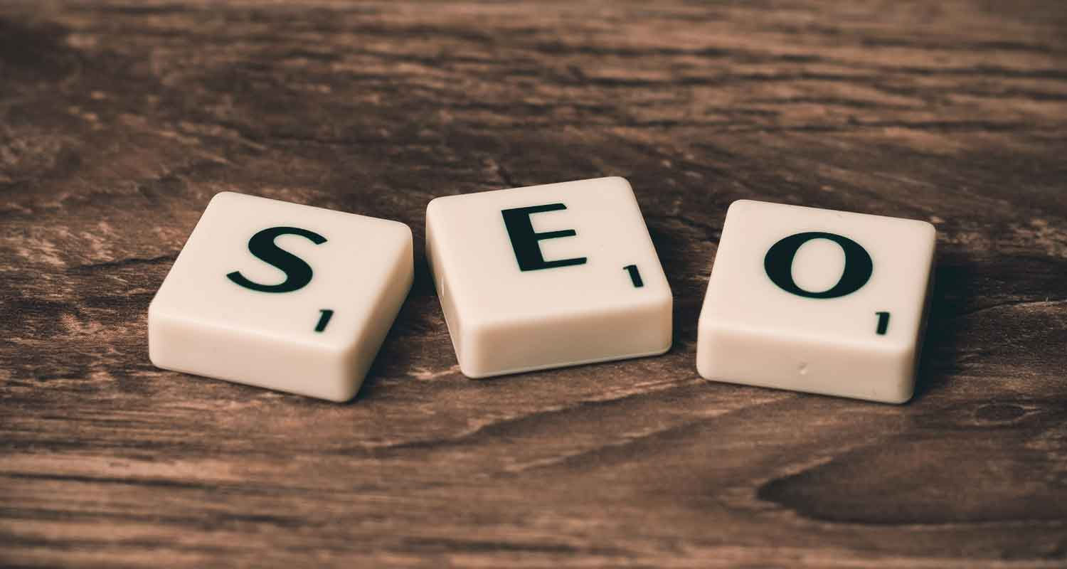 Scrabble tiles spelling out SEO