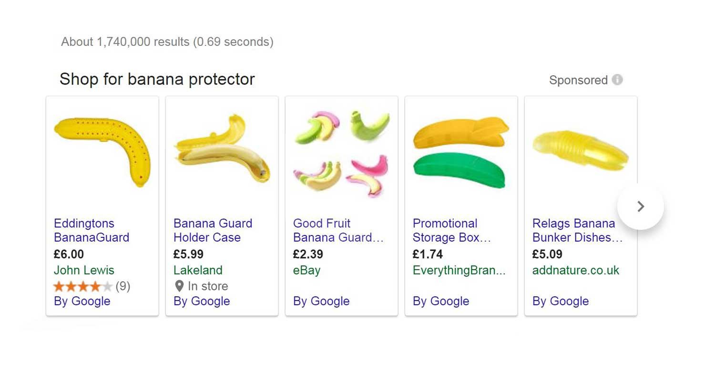 Google Product Listing of Banana Guard