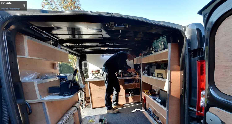 Google Virtual Tour of Locksmith Van