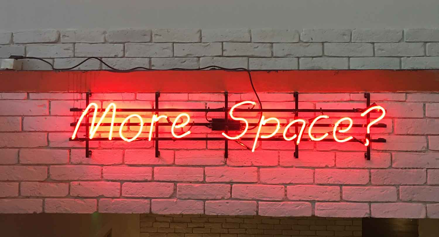 More Space Neon Sign
