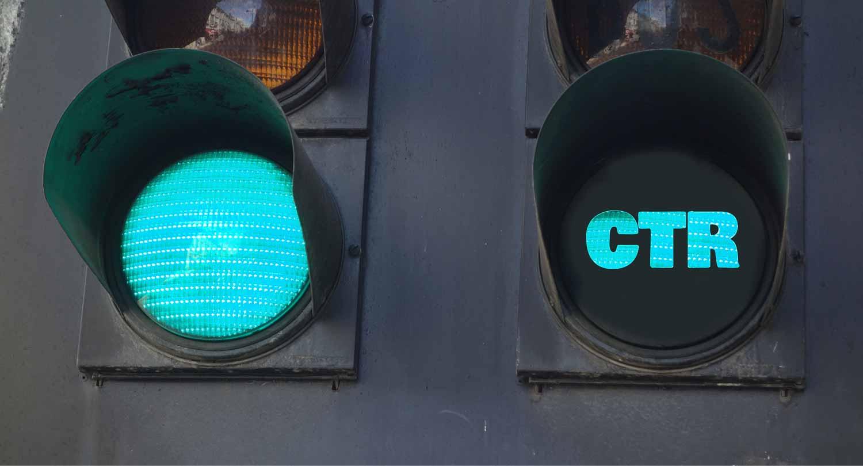CTR as a signal next to a green light