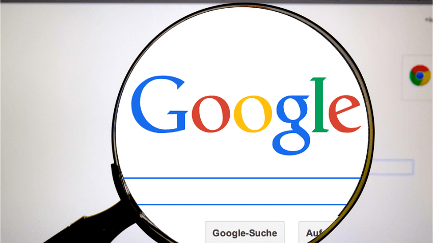 Magnify over the Google Search bar